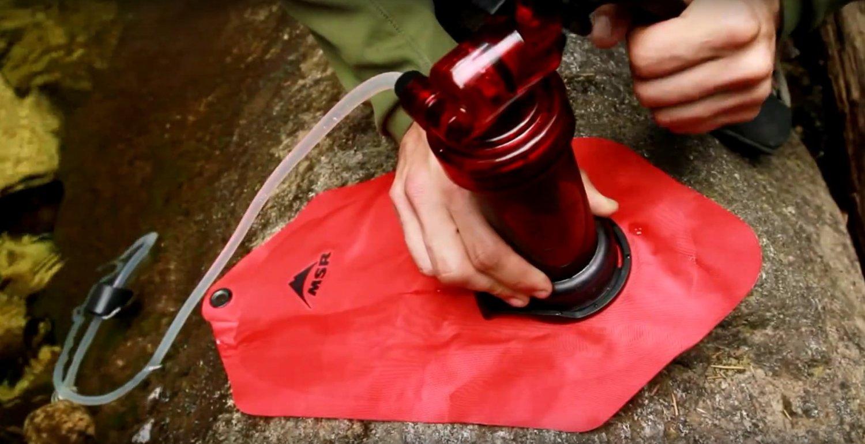 MSRの登山用携帯浄水器