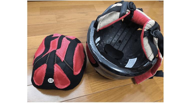 スキー用ヘルメットのインナーキャップ