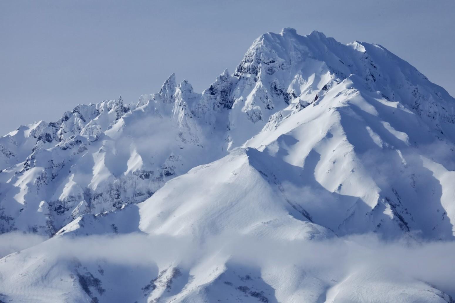冬の利尻岳