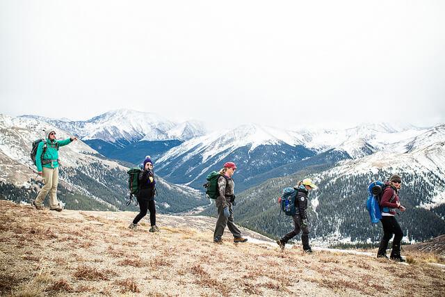 冬の登山の服装
