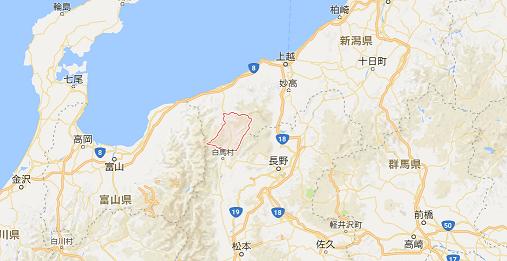 長野県小谷村の場所