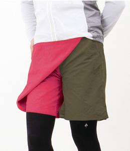 【モンベルの登山スカート】ストレッチO.D.ラップショーツ