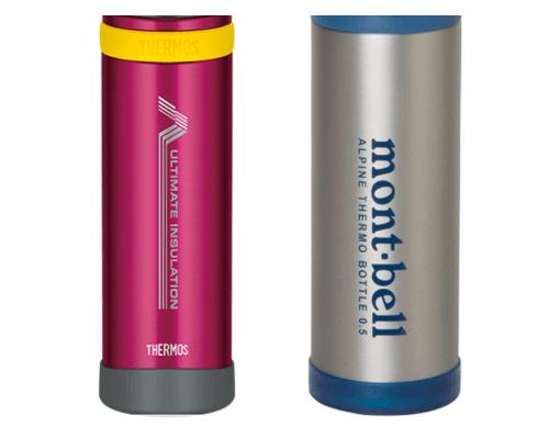山専ボトルとモンベルアルパインサーモボトルの本体比較